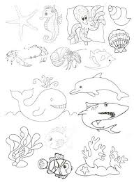 Coloriage Animaux Marins A Imprimer Best Of Coloriages Marins 1