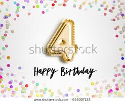 4th birthday stock images royalty free images u0026 vectors