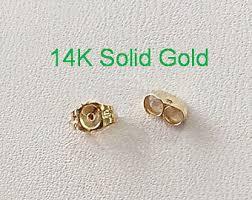 gold earring backs earring back 14k solid yellow gold 4 mm earring backs 2