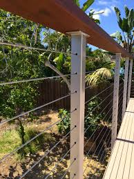 Interior Cable Railing Kit Stainless Steel Cable Railing Posts Powder Coated San Diego