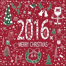 christmas greeting card template vector merry christmas 2016