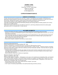 maintenance man resume handyman skills resume caretaker carpenter