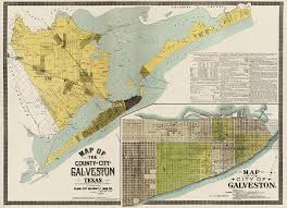 map of galveston antique map of galveston by the island city abstract and