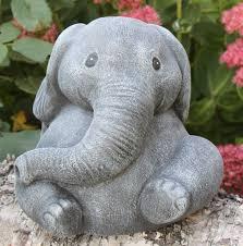 garden ornament elephant cast slate gray co uk