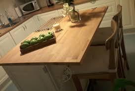 plan ilot cuisine ilot central avec plan de travail en hêtre de laboutiquedubois com