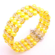 yellow pearl bracelet images Yellow pearl bracelet return party gift jewelry jpg