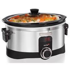 thanksgiving crock pot recipes hamilton beach intellitime slow cooker 6 qt 33564