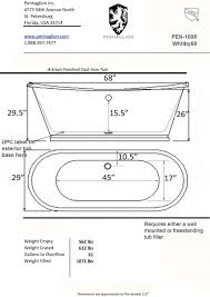 Size Bathtub Articles With Standard Size Bathtub Philippines Tag Chic Standard