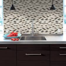 Peel And Stick Backsplashes For Kitchens Smart Tiles 9 10 In X 10 20 In Mosaic Peel And Stick Decorative