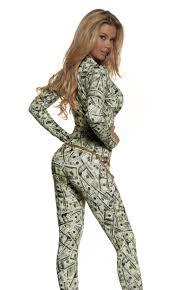 Money Halloween Costume Zip Front Money Print Cat Suit Halloween Costume Starter Ebay