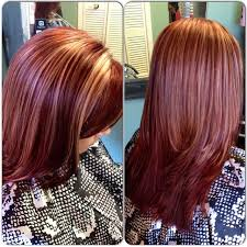 mahoganey hair with highlights mahogany red with blonde highlights favorites pinterest
