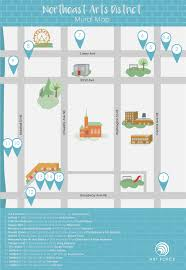 Map Of Minneapolis Mn Minneapolis Mural Map Northeast Arts District Art Force Academy
