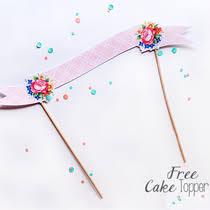 cake topper banner free cake topper printable