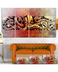 animal print l shades incredible spring deals on designart octopus sketch in yellow shade