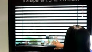 samsung u0027s transparent smart window with virtual blinds youtube