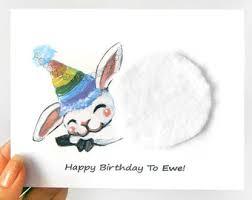 funny card cute goat art greeting card ripped notecard