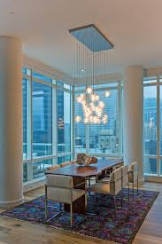 peacock rug dining room contemporary with chandelier city views Peacock Area Rugs