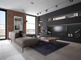 Bedroom With Accent Wall by Design A Chic Modern Space Around A Brick Accent Wall