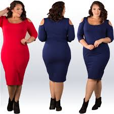 mid sleeve 3xl women plus size dresses solid bodycon dress