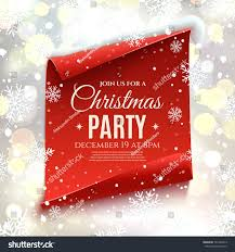 christmas party invitation red curved paper stock vector 346330973