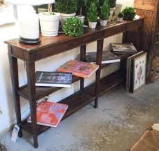 Pier One Console Table Enchanting Solid Wood Narrow Console Table With Arch Stretcher