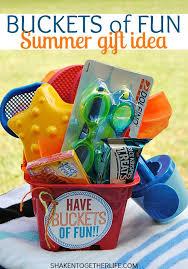 summer gift basket buckets of summer gift plastic buckets buckets and