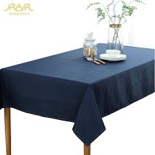 party table covers romorus solid color waterproof tablecloths tafelkleed navy blue