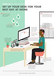 Organize Your Desk by How To Set Up Your Desk For Your Best Day At Work Infographic