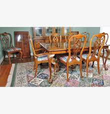 Thomasville Cherry Dining Room Set by Thomasville Fisher Park Dining Table And Eight Chairs Ebth