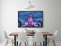 cinderella schlafzimmer h2060 starry cinderella castle baum landschaft hd leinwand druck