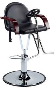 fauteuil de coiffure en métal avec pompe hydraulique piètement