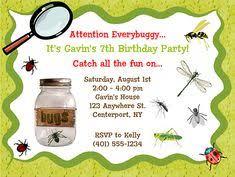 bugs birthday party ideas invitation ideas a bug and invitations