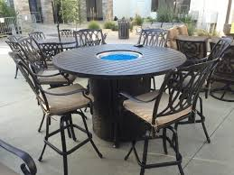 Bar Height Fire Table Alluring San Marcos 7 Piece Bar Height Patio Set With Fire Pit 71
