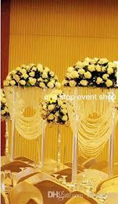 Vase Tall Transparent Cylinder Acrylic Clear Crystal Vase Tall Flower