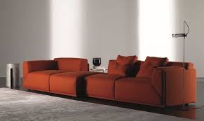 modul sofa and essential shape for meridiani collection