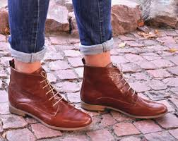 womens brown leather boots sale s boots etsy