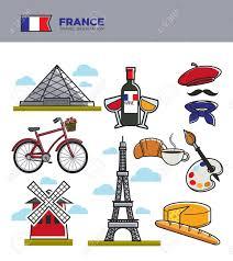 French Flag Eiffel Tower France Tourism Travel Landmark Symbols And Culture Tourist
