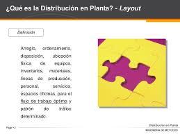 que es layout ingenieria análisis de operaciones distribución en planta