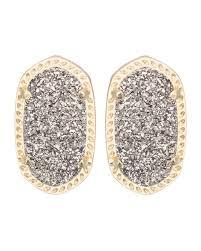 druzy stud earrings kendra ellie platinum druzy stud earrings
