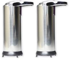 commercial soap dispenser wall mounted 2 x hausen automatic hands free chrome bathroom kitchen liquid