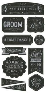wedding scrapbook stickers wedding bliss groom set chalkboard stickers cardmaking