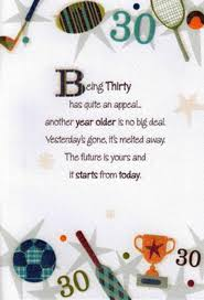 30th birthday delivery 30th birthday poetry in motion card cards kates