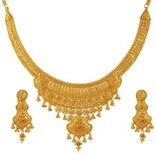 golden necklace women images Indian gold necklaces images pictures becuo gold all over neck jpg