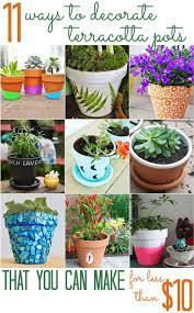Cheap Small Flower Pots - 120 best diy flower pots planters images on pinterest gardening
