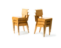 marcel breuer dining table paddle8 six stacking chairs marcel breuer