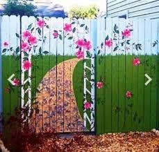 295 best outdoor garden murals images on pinterest fence