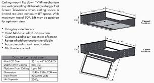 Drop Down Tv From Ceiling by Motorized Products