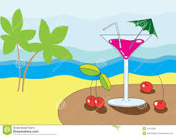 martini beach martini on the beach royalty free stock image image 10470586