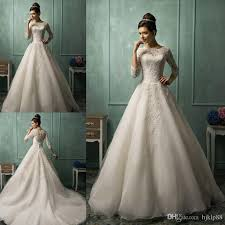 cheap bridal gowns amelia sposa sleeve wedding dresses for 2015 white