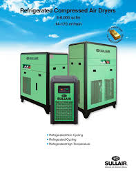 refrigerated compressed air dryers sullair pdf catalogue